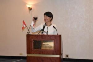 在バンクーバー日本国総領事館岡井総領事の乾杯のご発声